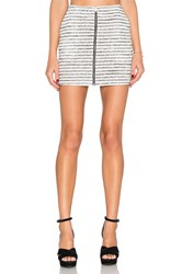 Bcbgeneration Striped Skirt White
