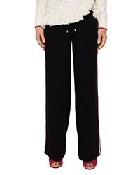 Ted Baker Colour By Numbers Harrel Wide Leg Pants Black