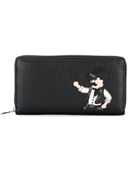 Dolce And Gabbana Cowboy Patch Continental Wallet Black