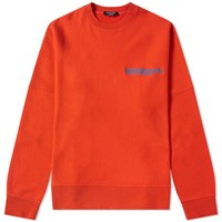 Calvin Klein 205W39nyc Embroidered Logo Classic Crew Sweat Orange