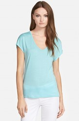 Trouve Women's Trouve 'Easy' V Neck Tee Teal Angel