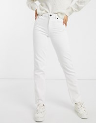 French Connection High Waist Straight Leg Jean In Summer White