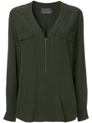 Ginger And Smart Secret Vice Blouse Green
