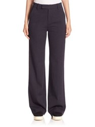 Vince Wide Leg Pants Heather Charcoal Heather Coastal Black Dark Grey