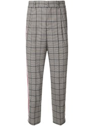 Loveless Check Print Trousers Grey