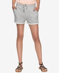 Roxy Juniors' Trippin French Terry Soft Shorts Heritage Heather