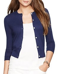 Lauren Ralph Lauren Petites Cropped Cardigan Authentic Navy