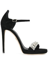 Loriblu Embellished Sandal Pumps Women Suede Leather 36 Black