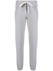 Theory Frill Cuff Track Trousers Grey