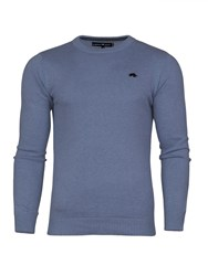 Raging Bull Men's Signature Crew Neck Sweater Mid Blue