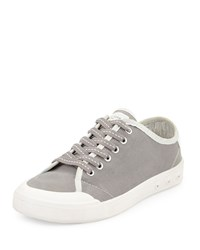 Rag And Bone Standard Issue Canvas Lace Up Sneaker Gray Grey