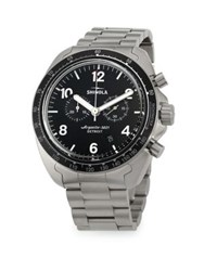 Shinola Rambler Chronograph Brushed Titanium Bracelet Watch Silver