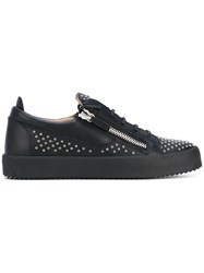 Giuseppe Zanotti Design Frankie Micro Stud Sneakers Men Leather 43 Black