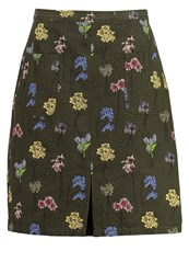 White Stuff Bluebell Aline Skirt Hawthorn Green Khaki