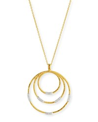 Gurhan 22K Gold Delicate Geo Round Pendant Necklace W Diamonds 18