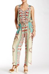 Johnny Was Chettl Sleeveless Silk Jumpsuit Multi