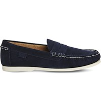 Ralph Lauren Bjorn Suede Penny Loafers New Newport Navy