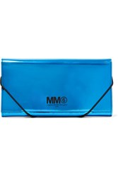 Maison Martin Margiela Mm6 Faux Patent Leather Wallet Bright Blue