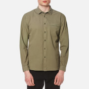 Folk Men's Elbow Patch Shirt Soft Military Green