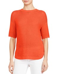 Lauren Ralph Lauren Kysln Knitted Drop Shoulder Top Sunset Orange