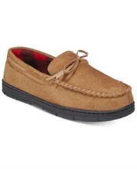 Club Room Men's Slippers Mark Suede Moccasins Tan