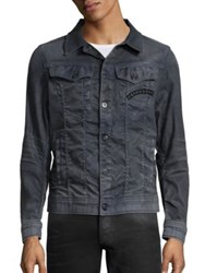 G Star Slim Fit 3D Aged Denim Jacket Dark Aged Cobbler