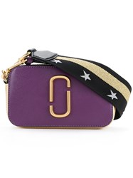 Marc Jacobs Small Snapshot Camera Bag Women Calf Leather One Size Pink Purple
