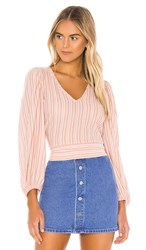 Free People Autumn Nights Top In Pink. Purple Combo
