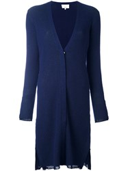 3.1 Phillip Lim Long Ribbed Cardigan Blue