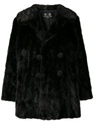 Rewind Vintage Affairs Double Breasted Coat Black