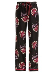 Morgan Lane Chantal Floral Print Pyjama Bottoms Black Pink