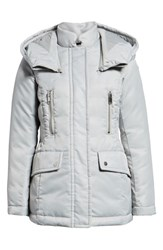 Marc New York Flight Satin Puffer Jacket Silver