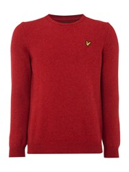 Lyle And Scott Men's Lambswool Crew Neck Jumper Red Marl