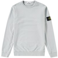 Stone Island Garment Dyed Fleece Crew Sweat Grey
