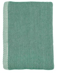 Muuto Ripple Woven Cotton Throw Green