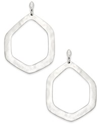 Inc International Concepts Large Silver Hammered Geometric Gypsy Hoop Earrings Only At Macy's