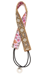Deepa Gurnani Beaded Geometric Headband Gold