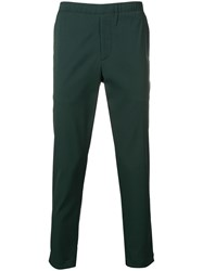 Theory Tapered Trousers Green