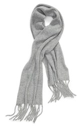 Free People Jaden Rib Knit Blanket Scarf Grey