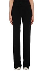 Lisa Perry Crepe Boot Cut Pants Black