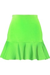 Issa Arabella Neon Stretch Knit Mini Skirt Green