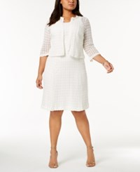 Robbie Bee Plus Size Crochet Lace Dress And Jacket Ivy