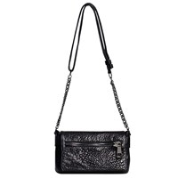 Gerard Darel Le Elgin Leather Shoulder Bag Black