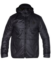 Hurley Men's Recruit Full Zip Puffer Jacket Black