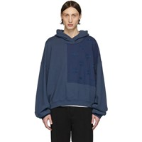 Haider Ackermann Blue Perth Patch Hoodie