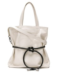 Mara Mac Leather Tote Bag White