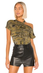 N Philanthropy Flamingo Tee In Green. Olive Camo