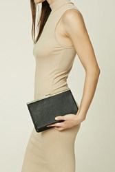Forever 21 Structured Faux Leather Clutch