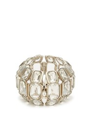Alexander Mcqueen Crystal Embellished Cuff Crystal