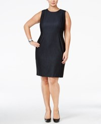 Calvin Klein Plus Size Denim Sheath Dress Blue